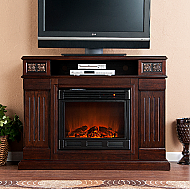 48'' Holly & Martin Clifton Media Electric Fireplace-Espresso