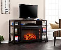 "55.25"" Stockton Ebony Stain Media Electric Fireplace - FE9029"