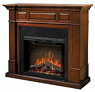 "60.4"" Dimplex Newport Burnished Walnut Purifire Electric Fireplace"