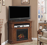 "43"" Oakfield Dual Entertainment Premium Pecan Birch Electric Fireplace - 23DE8202-P273"