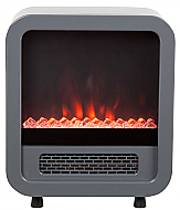 "15"" Silver Skyscape Electric Fireplace Stove"