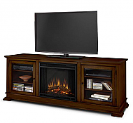 "67.75"" Hudson Espresso Electric Fireplace"