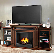 "67"" Calie Dark Espresso Gel Fireplace Entertainment Unit"