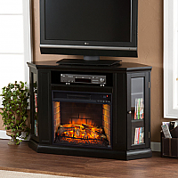 """48"""" Claremont Convertible Media Infrared Fireplace - Black - FI9315"""