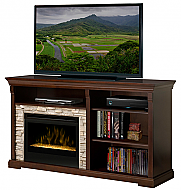 "65"" Dimplex Edgewood Espresso Glass Entertainment Center Fireplace - GDS25G-1269E"