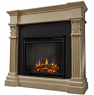 "42"" Sendaydiego White Electric Fireplace"