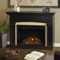 "58.5"" Holbrook Grand Black Electric Fireplace"