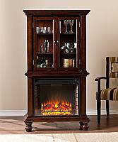 "33.25"" Townsend Espresso Electric Fireplace Curio - FE9829"