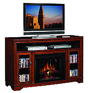 64'' Santa Monica Empire Cherry Entertainment Center Electric Fireplace