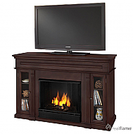 "50.75"" Lannon Dark Walnut Gel Fuel Fireplace"