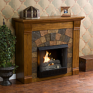 "45.5"" Holly & Martin Underwood Gel Fireplace-Antique Oak"