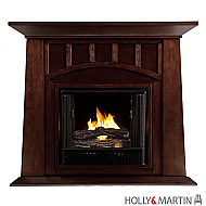"48"" Lowery Gel Fuel Fireplace - Espresso"