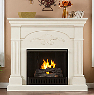 "44.75"" Holly & Martin Salerno Gel Fireplace-Ivory"