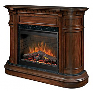 "62.3"" Dimplex Carlyle Burnished Walnut Purifire Electric Fireplace"