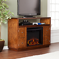 "47.75"" Brentford Dark Tobacco Media Electric Fireplace - FE9384"