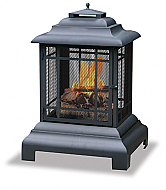 24.5'' Belmont Black Outdoor Latern Style Firehouse