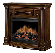 "51.5"" Dimplex Belvedere Walnut Purifire Electric Fireplace"