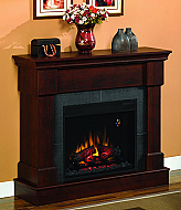 42'' Franklin Roasted Mahogany Wall and Corner Electric Fireplace
