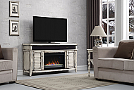 "59.5"" Simmons Country White Media Mantel Electric Fireplace - 26MMS8529-T478"