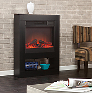 "30.5"" Holly & Martin Mofta Black Electric Fireplace"