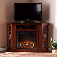 "48"" Holly & Martin Ponoma Convertible Media Electric Fireplace-Mahogany"