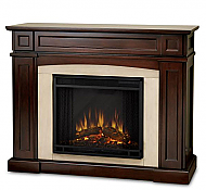 "46.5"" Ratherford Mahogany Electric Entertainment Center Fireplace"