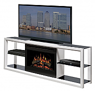 "64"" Dimplex Novara White Entertainment Center Fireplace"