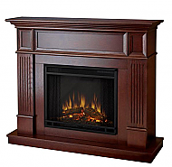 "45"" Cameron Mahogany Convertible Electric Fireplace"