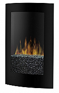 "22.75"" Dimplex Convex Black Electric Wall Fireplace"