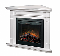 "50"" Dimplex White Corner Mantel Electric Fireplace - BF33DXP-BCCW5"