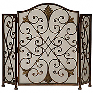 "49"" Rockefeller 3 Panel Fireplace Screen"