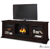 "67.75"" Hudson Espresso Gel Fuel Fireplace"