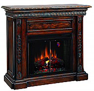 50'' San Marco Antique Walnut Electric Fireplace