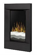 "23.5"" Dimplex Rectangular Black Electric Wall Fireplace"