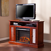 "47.75"" Antebellum Classic Mahogany Electric Media Fireplace - FE9304"