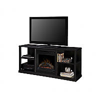 "60.5"" Jayden Black Media Console Fireplace - DFP20-1342BA"