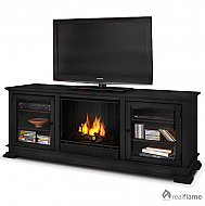 "67.75"" Hudson Black Gel Fuel Fireplace"