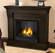 "40.94"" Chateau Dark Walnut Gel Fireplace"