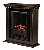 "34"" Dimplex Bravado Espresso Electric Fireplace"
