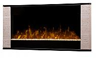"43"" Dimplex Strata Black Wall Mount Fireplace"