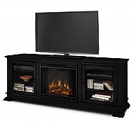 "67.75"" Hudson Black Electric Fireplace"