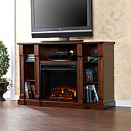"52"" Kendall Electric Media Fireplace - Espresso"