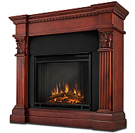 "42"" Sendaydiego Mahogany Electric Fireplace"
