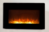 "30.5"" Modena Black Wall Mounted Electric Fireplace"
