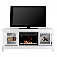 "70"" Dimplex Winterstein White Glass Ember Bed Media Console Fireplace - GDS25G-1413WB"