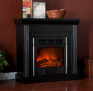 "29.5"" Holly & Martin Bastrop Petite Convertible Electric Fireplace-Black"