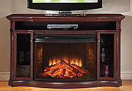 "62.1"" Alpine Media Cherry Electric Fireplace"