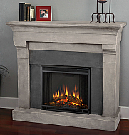 "50.6"" Torrence Cast Cinderstone Electric Fireplace"
