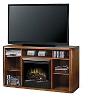 "61"" Dimplex Logan Burnished Walnut Entertainment Center Fireplace"