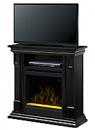 "36"" Dimplex Deerhurts Black Glass Entertainment Center Fireplace"